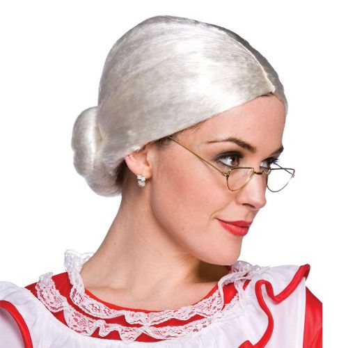 Mrs Claus Wig for Christmas Santa Fancy Dress